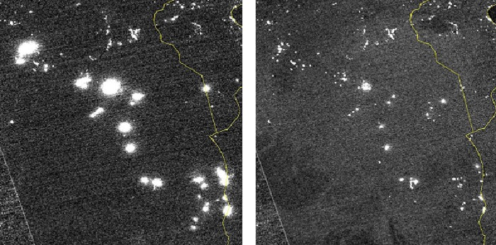 Algeria gas flaring comparison with space