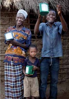 Shell foundation solar lamps small